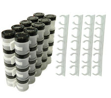 20 pcs Kitchen Aid Organizer Rack 20PCS Cabinet Door Spice Clips-EASY TO USE