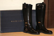 RALPH LAUREN COLLECTION Odette PVC boots Black Size- 9 (SOLD OUT IN STORES!!)
