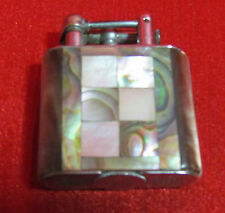 Golden Wheel 1930's Mother of Pearl Art Deco Cigarette Lighter