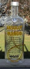 "HUGE ABSOLUT MANGO VODKA GLASS DISPLAY BOTTLE 20"" TALL"