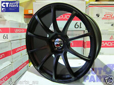 19 x9.5 ADVAN RACING Style Matt Black Alloy Wheels Rim 5x114.3 EVO GTR S15