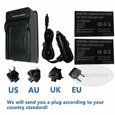 2x Battery+Charger for NP-120 FUJI FinePix NP120 DL17 DB43 BP1500S FinePix F11