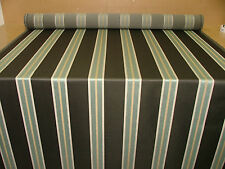 22m Ashley Wilde Hardy Grey Duck Egg Stripe Jacquard Curtain Upholstery Fabric