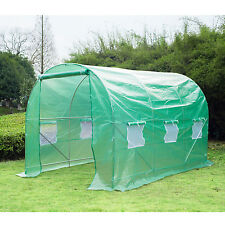 12'×6.6'×6.6' Round Walk-in Tunnel Greenhouse Plant Shed Garden Portable PE