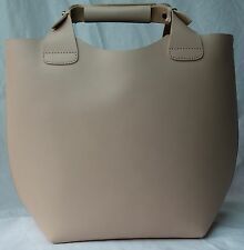 Ex Zara leather bucket hagbag nude/pinkish natural new RRp £60