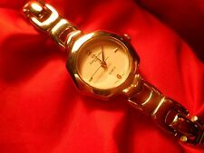 LADIES WATCH LOUIS ARDEN PARIS QUARTZ RUNS A-1 SECOND HAND SILVER TONE SHARP!