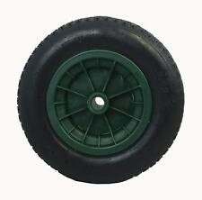 "14"" GREEN pneumatic wheelbarrow wheel 3.50/4.00-8 inflatable tyre / replacement"