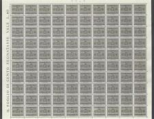Italy 1945 Sc# J46 Arms Postage due 40c 2scans sheet of 100 MNH