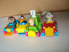 Looney Tunes Quack-Up 4 Pc. Comp. Set McDonalds Happy Meal Toys,1993 Red Car