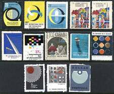Greece - Poster Stamps - Exhibitions 1955/1969 - Collection of 12 Different