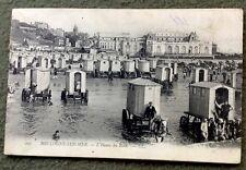 CPA. BOULOGNE SUR MER. 62 - L'Heure du Bain. 1905 ? Cabines. Cheval.