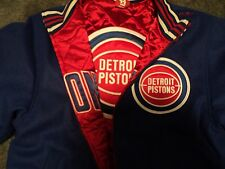 Mitchell & Ness Detriot Pistons wool reversible size 48 xl jacket retail 450$