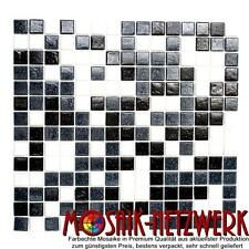 Glasmosaik Weiss/grau/schwarz | Classic Mix | Art:52-0302 | 1 qm