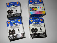 Set of 9 x LC41 Brother Original Genuine LC41BK, LC41C,LC41Y,LC41M ink cartridge
