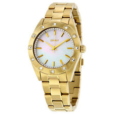 DKNY NY8661 GOLD TONE JITNEY WOMEN'S STAINLESS STEEL WATCH  -- 2 YRS WARRANTY