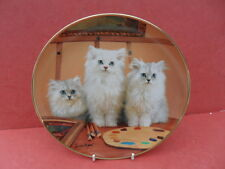 Franklin Mint Cat/Kitten Design, Paint Us Please - Collector Plate