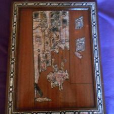 near east wood and mother of pearl wall hanging picture(tourist piece)