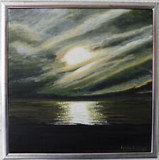 Gemälde Acryl mit Rahmen 33 x 33 cm Mystic Wolken am Meer