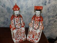 GUMPS VNTG. ORIENTAL STATUES PAIR SAN FRANSISCO MALE & FEMALE JAPAN