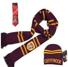 Harry Potter Gryffindor House Scarf+Cap/Hat + Tie Soft Warm Costume Xmas Gift