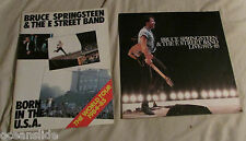 Bruce Springsteen E Street Band Live 1975-85 Lyric Booklet + Born in USA Program