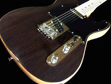 Exotic Wood Ebony Top Tele style 6 String Electric Guitar STL 01 EV