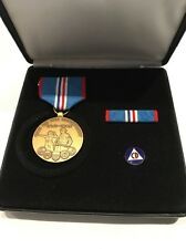 WWII Men on the Home Front Commemorative Medal Set & Civil Defense CD Pin