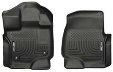Husky Liners 15 Ford F-150 Super/Super Crew Cab WeatherBeater Black Front Floor
