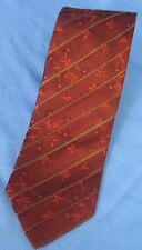 Men's Boss Hugo Boss Red Brown Floral Tie 100% Silk Made in Italy