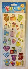 Baby Bits - Baby Shower / New Baby - 27 Stickers per pk - PVC, Acid Free (928)