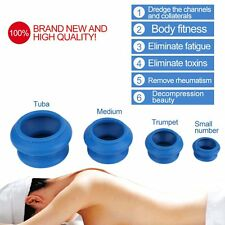4pcs Rubber Cupping Therapy Health Care Body Anti Vacuum Massager Cupping Cup LN
