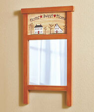 Rustic Old Fashioned Country Washboard Wall Mirror Primitive Sweet Home Decor