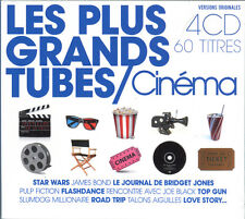 LES PLUS GRANDS TUBES / CINEMA - COMPILATION DIGIPACK 4 CD NEUF ET SOUS CELLO
