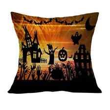 Halloween Square Cotton Linen Throw Pillow Case Cushion Cover Home Sofa Decor