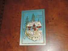 Antique Postcard Hold To Light Christmas House Winter Scene Embossed (px926)