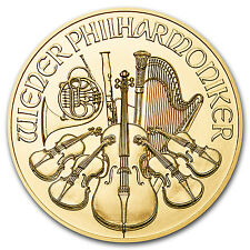 2016 Austria 1/25 oz Gold Philharmonic BU - SKU #94908