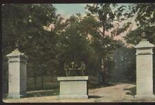 Postcard LAFAYETTE Indiana/IN  Civil War Soldiers Home Entrance Gate view 1907