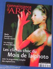 Connaissance des arts 599 2002 Modigliani masques bois Alaska mois de la photo