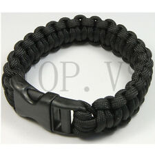 550 Paracord Military Camping Hiking Hunting Survival Bracelet Parachute Cord #1