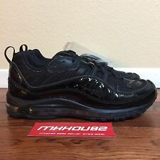 New Supreme Nike Air Max 98 Black Running Shoes Spring Summer 2016 Size 10.5