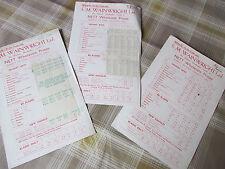 SM Wainwright Leeds Original Bate De Cricket listas de precios 1938 - 39 y Segunda Guerra Mundial 1940 y 1942