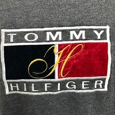 P20 Vintage Women's Tommy Hilfiger Sweater Gray Made In Italy 2XL