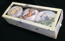 Vintage Disney Winnie the Pooh 3 Candles in Tin Boxes, Piglet Tigger, Scented