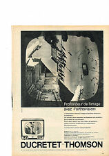 PUBLICITE ADVERTISING   1959    DUCRETET THOMSON  téléviseur