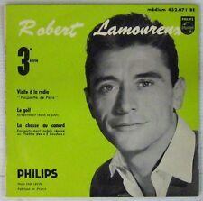 Robert Lamoureux 45 tours Visite à la radio 1956