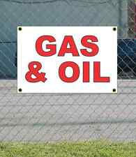 2x3 GAS & OIL Red & White Banner Sign NEW Discount Size & Price FREE SHIP
