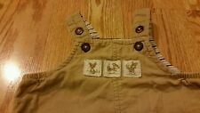 Janie and Jack Baby Boys Overalls 0-3 Months Infants Corduroy Fox Adorable CUTE