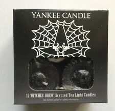 YANKEE CANDLE HALLOWEEN WITCHES BREW TEA LIGHTS BOX OF 12 NEW FREE SHIP
