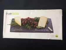 True Table Black Slate Cheese And Appetizer Serving Board In The Box