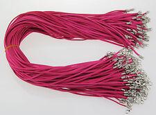 All'ingrosso 10pz Rosa Rossa Pelle Scamosciata Corda 50.8cm Collana Cordino
